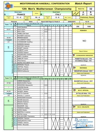 32 FRA-ITA WEB - 12° Men`s MHC Championship