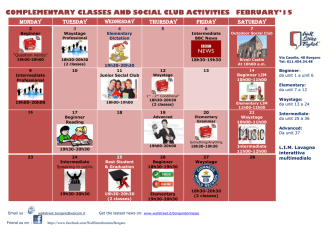 COMPLEMENTARY CLASSES AND SOCIAL CLUB ACTIVITIES