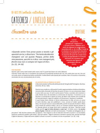 CATECHESI / livello base