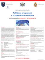 Master di primo livello in Politiche, programmi e progettazione