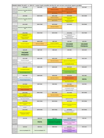 Calendario lezioni A072