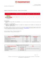 Versione 2015B3 Calendario di pubblicazione della versione