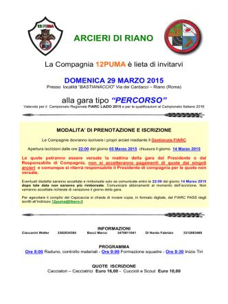 ARCIERI DI RIANO - Tiro Istintivo Lazio