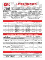 LISTINO PREZZI 2015 - PG Corse Pista Ronco Kart