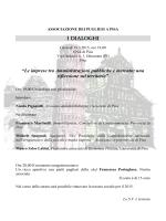 I DIALOGHI - Associazione Pugliesi a Pisa