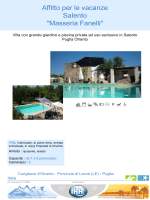 """Affitto per le vacanze Salento """"Masseria Fanelli"""""""