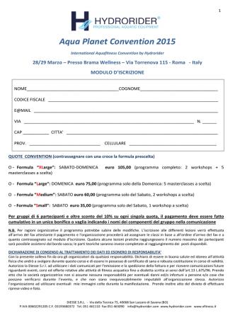 Aqua Planet Convention 2015