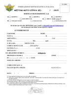 Modulo iscrizione Meeting in pista - Federazione Motociclistica Italiana