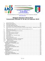 Comunicato ufficiale N.36