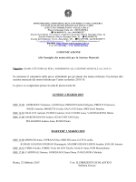 calendario prove attitudinali - Istituto Comprensivo Piazza Gola