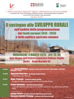 Locandina psr - L`Informatore Agrario