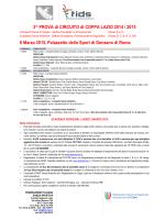 3^ PROVA di CIRCUITO di COPPA LAZIO 2014 / 2015