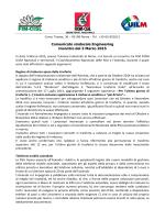 Comunicato sindacale Engineering Incontro del 3 Marzo 2015