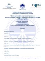 Core curriculum e core competence: un nuovo modo di