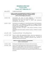 Programma - Università degli Studi dell`Insubria