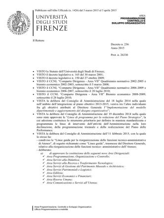 Avvio della revisione - Università degli Studi di Firenze