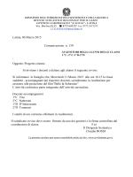 Comunicazione n. 139 PROGETTO CINEMA