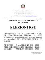 elezioni rsu - istituto comprensivo riano