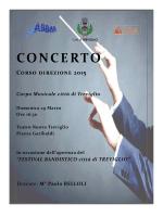 CONCERTO Corso direzione 2015 Corpo Musicale città di Treviglio