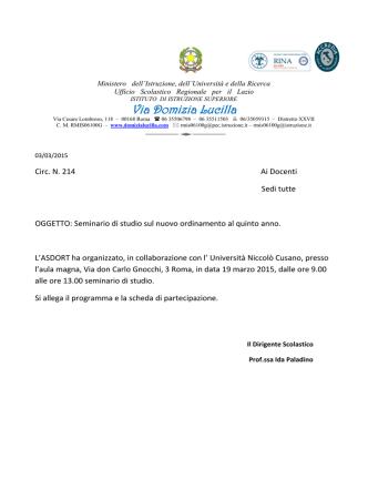 circ 214 seminario ec. aziend - Istituto di Istruzione Superiore
