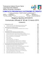 Comunicato n. 85