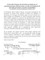 Testo del comunicato - Tribunale Ordinario di Roma