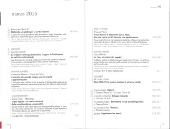 Aggiornamenti Sociali – Anno 66, n. 03 – Marzo 2015