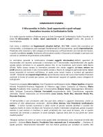 COMUNICATO STAMPA Il Microcredito in Sicilia. Quali opportunità