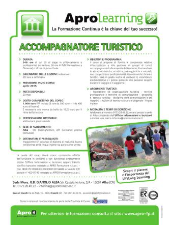 Accompagnatore Turistico - Apro Formazione Professionale