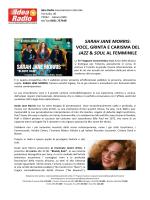 TARANTO Sarah Jane Morris in concerto al Teatro Orfeo