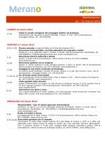 Calendario delle manifestazioni dal 16 al 22 marzo 2015