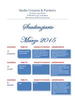 Scadenziario Marzo 2015