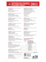 PIMS concerti 2015 locandina - Pontificio Istituto di Musica Sacra