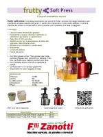 Estrattore succo frutty soft press, innovativa e semplice