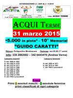 Locandina: Memorial Caratti - 5000 m. in pista