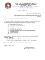 """""""Giovanni Falcone"""" L`assemblea si terrà il 20 marzo 2015 presso la"""
