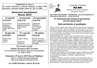 Calendario - Chiesa di Riola