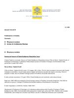 Rinunce e nomine Avviso di Conferenza Stampa Rinunce e nomine