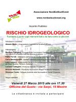 RISCHIO IDROGEOLOGICO - Associazione NordEstSudOvest