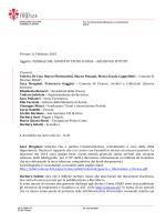 Verbale del Comitato Archivi e Istituti del 11 febbraio 2015