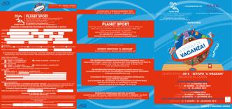 Depliant - Planet Sport
