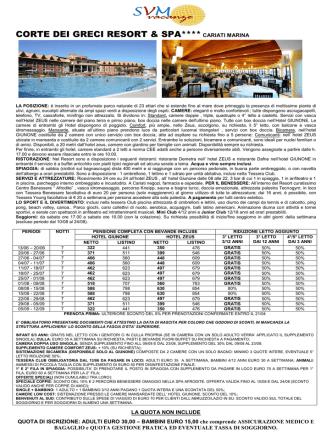 corte dei greci resort & spa**** cariati marina