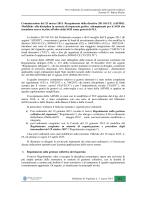 Comunicazione del 25 marzo 2015. Recepimento della direttiva