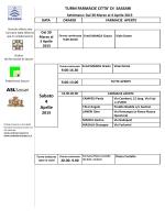 Turni Aprile 2015 - Ordine Interprovinciale dei Farmacisti di Sassari