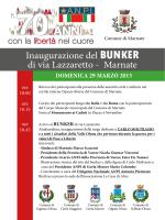 Manifesto inaugurazione Bunker