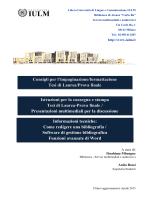 Consigli per l`impaginazione/formattazione Tesi di Laurea/Prova