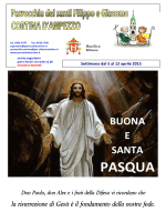 Foglietto settimanale dal 5 al 12 aprile 2015