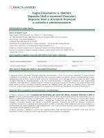 Foglio informativo n. 004/021. Deposito titoli e