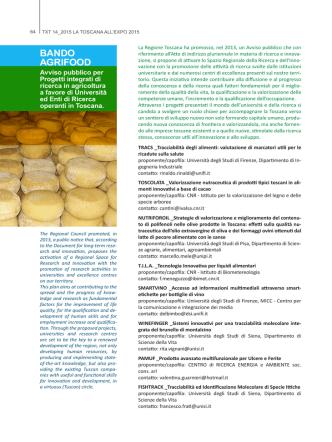 BANDO AGRIFOOD - txtmagazine.it