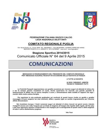 Comitato Regionale Puglia